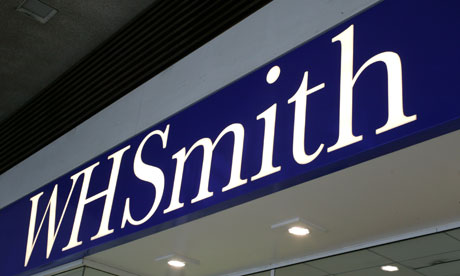 WH Smith shop sign