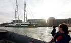 launch of Greenpeace's ship 'The Rainbow Warrior III' in London