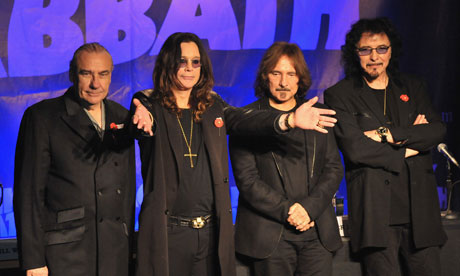 Black Sabbath in 2011 … From left: Bill Ward, Ozzy Osbourne, Geezer Butler and Tony Iommi. Photograph: Lester Cohen/WireImage