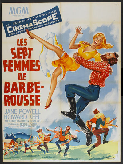 Film Poster Exhibition: Seven Brides For Seven Brothers posters
