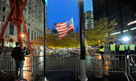 Zuccotti Park after cleaning