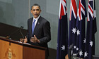 Barack Obama addresses the Australian Parliament