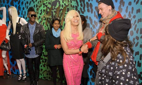 Donatella Versace meets shoppers