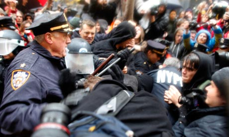 occupy protesters clash with police