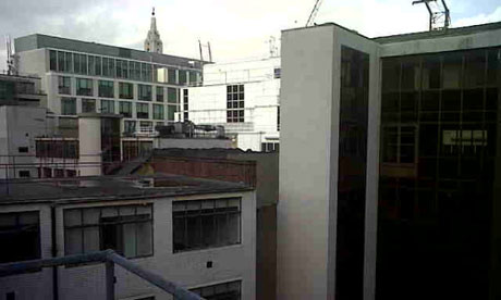 View from roof of UBS building occupied by Occupy London protesters on 18 November 2011.