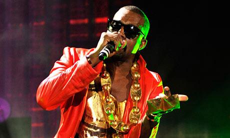 Kanye West performing at Yankee Stadium