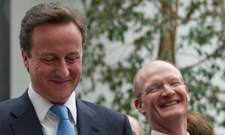 Willetts with David Cameron in 2010.
