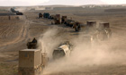 Uk army convoy, Afghanistan