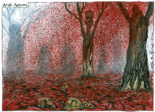 Martin Rowson cartoon, 21.11.2011