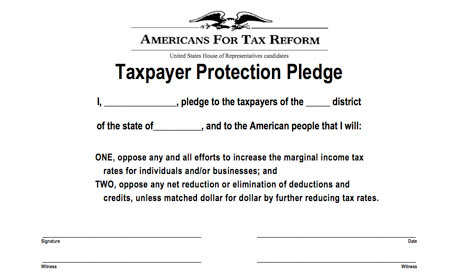 Americans for Tax Reform's taxpayer protection pledge