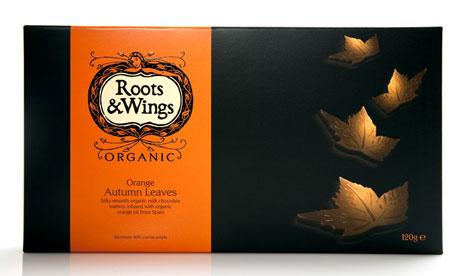 Roots & Wings orange autumn leaves