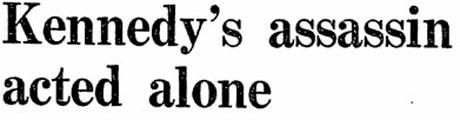 Guardian report on Warren Commission 1964