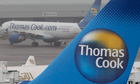 Thomas Cook aircraft at Manchester airport