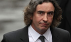 Steve Coogan arrives to give evidence to the Leveson inquiry