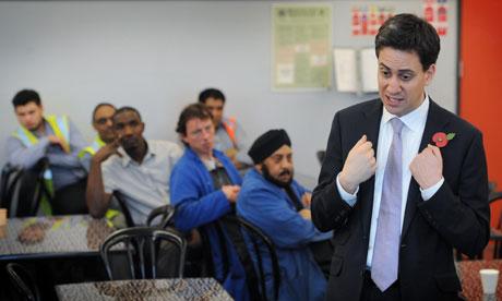 Miliband visit to Stratford