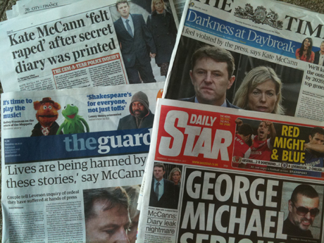 How the papers covered the McCann Leveson story