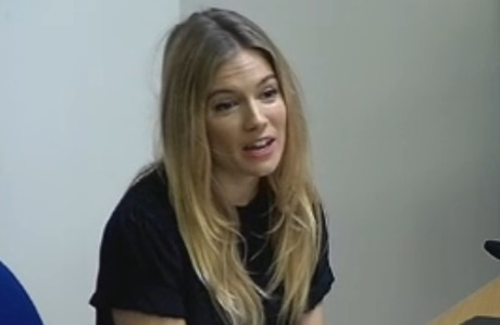 Sienna Miller at Leveson