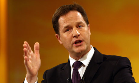 Clegg urges to smash race barrier