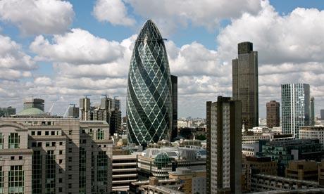 England, London, Swiss Re building ('The Gherkin')