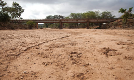 Dry river bed in Mwingi District, Kenya