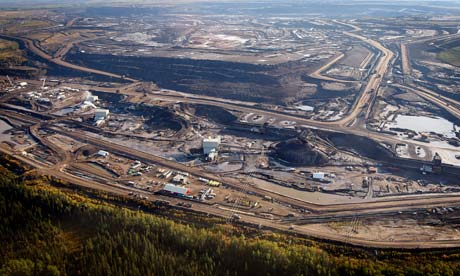Tar sand extraction in Alberta, Canada