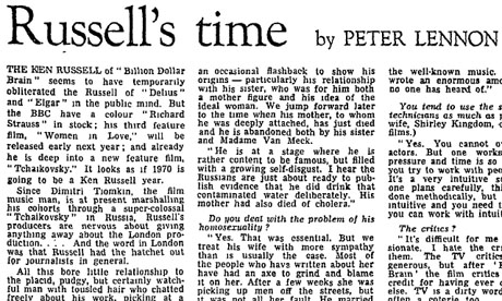 Peter Lennon interviews Ken Russell in 1969