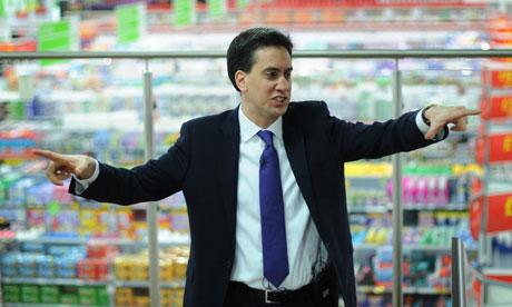 Ed Miliband visits Asda, Clapham