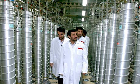 Iran - President Mahmoud Ahmadinejad visits Natanz Nuclear Enrichment Facility