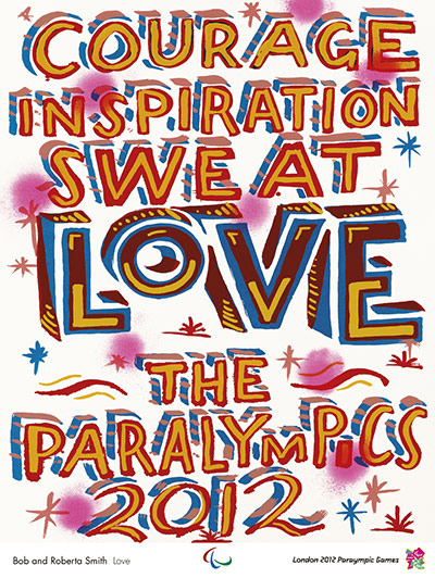 Official Olympic posters: Bob and Roberta Smith Olympic poster