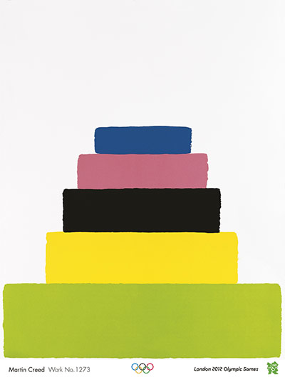 Official Olympic posters: Martin Creed Olympic poster
