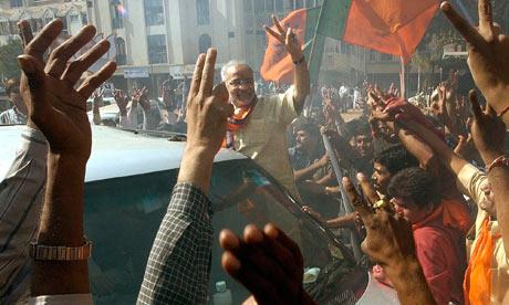 Ahmedabad crowds cheer Narendra Modi