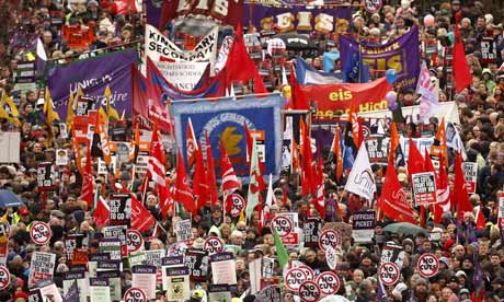 Strikes over public sector pensions hit services across UK as 2 million walk out