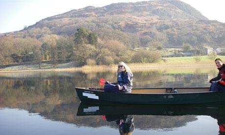 Canoeing on Coniston