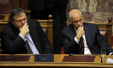 George Papandreou and Evangelos Venizelos
