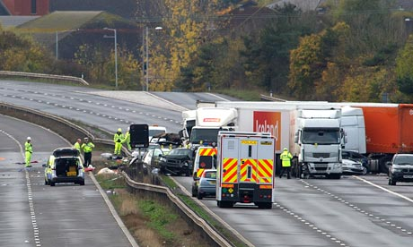 M5 crash: police investigate rugby club fireworks display M5-crash-aftermath-007