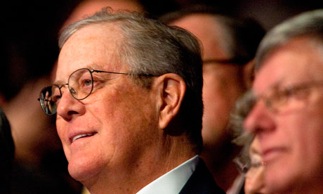 Billionaire David Koch at a Cut Spending Now rally in Washington