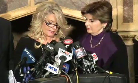 Herman Cain accuser Sharon Bialek and lawyer Gloria Allred
