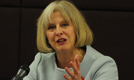 Theresa May faces questions from the home affairs select committee