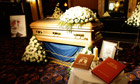 Sir Jimmy Savile's coffin on public display