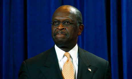 Herman Cain at the press conference at Phoenix, Arizona