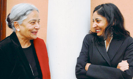 Anita Desai and her daughter, Kiran Desai