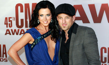 Country music duo Thompson Square arrive at the 45th Country Music Association Awards in Nashville