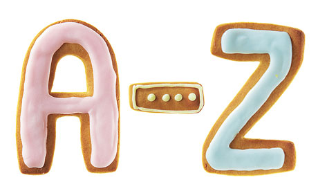A to Z biscuits
