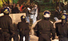 Police clash with youths in Brixton, south London