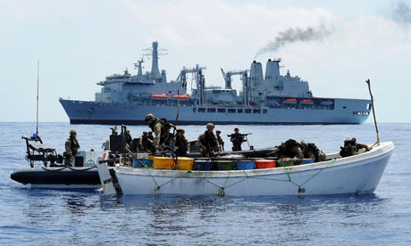 Royal Marines board suspected pirate vessel