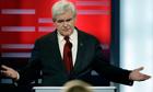 Newt Gingrich at Iowa's Republican candidate debate