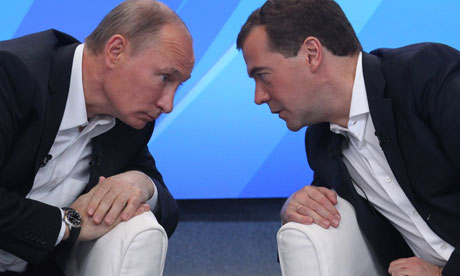 Vladimir Putin and Dmitry Medvedev, Russia.