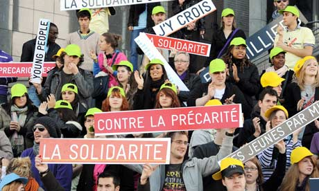 European youth gathered French unemployment