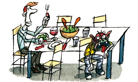 Tim Dowling illustration: family supper