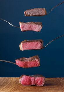 Steak cooking temperatures